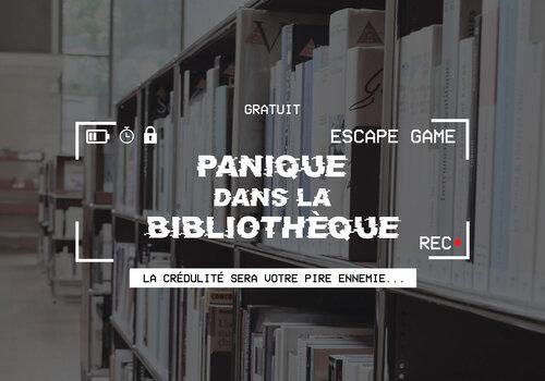 Affiche Panique à la bibliothèque